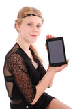 Girl showing tablet pc Stock Photo