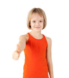 Girl showing thumb up Royalty Free Stock Image
