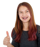 Girl showing thumb up Royalty Free Stock Photo