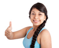 Girl showing thumb up Royalty Free Stock Photography
