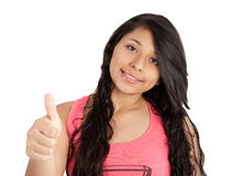 Girl showing thumb up Stock Image