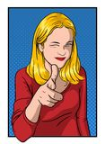 Girl Showing Thumb Royalty Free Stock Image