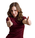 Girl showing Thumbs up Royalty Free Stock Photo