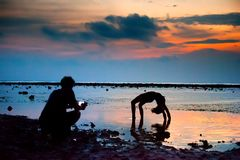 Gili Trawangan island, Lombok, Indonesia. royalty free stock photography