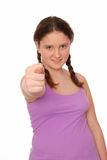 A girl shows gesture of contempt. Royalty Free Stock Photo