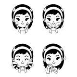 Icon woman spray treatment illustration stock illustration