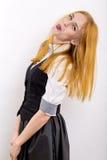 Girl shows tongue Royalty Free Stock Photography
