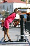 Girl at sightseeing Stock Image