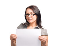 Girl with sign Royalty Free Stock Photography