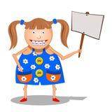 Girl with a sign Stock Photos