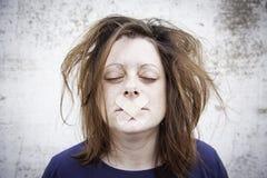 Girl in silence Stock Photography