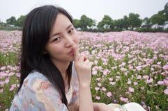 Girl with silence gesture Stock Photos