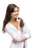 Girl silence gesturing Royalty Free Stock Image