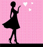 Girl silhouette. Vector illustration of Girl silhouette Royalty Free Stock Images