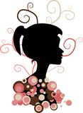 Girl silhouette Royalty Free Stock Photo