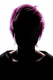 Girl silhouette fashion hair pink Royalty Free Stock Photos