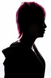 Girl silhouette fashion hair pink Royalty Free Stock Photography
