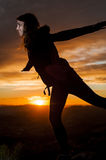 GIRL SILHOUETTE Royalty Free Stock Images