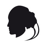 Girl silhouette on a white background Royalty Free Stock Photos