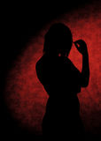 Girl silhouettes Royalty Free Stock Photography