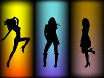 Girl Silhouettes Royalty Free Stock Photos