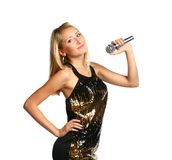Girl Singing Stock Photo