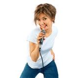Girl Singing. Royalty Free Stock Photos