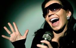 Girl Singing Royalty Free Stock Image
