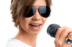 Girl Singing. Stock Photography