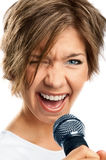 Girl Singing. Stock Photo