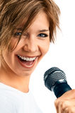 Girl Singing. Stock Photo