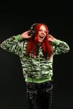 Girl singing Royalty Free Stock Photos