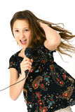 Girl singing Stock Photo