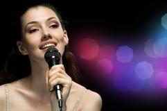 girl singing Στοκ Φωτογραφία