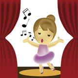Girl singing Stock Photography