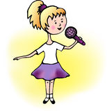 Girl singing Royalty Free Stock Photo
