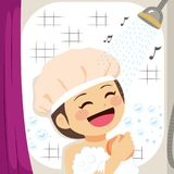 Girl Singing Shower vector illustration