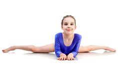 Girl Sits On A Splits Royalty Free Stock Photography