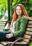 Girl sitting Stock Photography