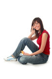 Girl sitting Stock Images