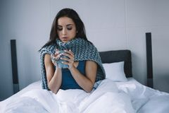 A girl in the morning royalty free stock photo