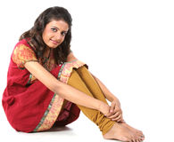 girl sitting on the floor Stock Photography