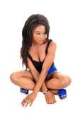 Girl sitting on floor. Stock Images