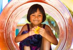 Girl sitting Playground Royalty Free Stock Images