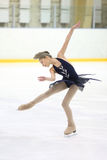 Girl on skate competition Royalty Free Stock Image