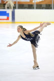 Girl on skate competition Royalty Free Stock Photography