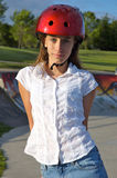 Girl at the Skate Park Stock Images