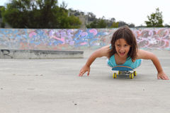 Girl on skateboard Stock Image