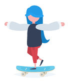 A girl with a skateboard Royalty Free Stock Photography