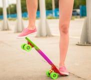 Girl on skateboard Royalty Free Stock Photos